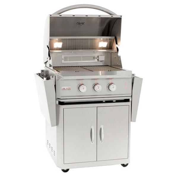 Blaze 27 Inch Professional 2 Burner Gas Grill Cart Rear