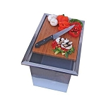 Medallion Trash Chute With Cutting Board