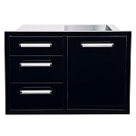 Bonfire Triple Drawer/Trash Combo - Black Series