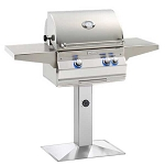 Fire Magic Aurora A430s Grill w/Patio Post Mount (Backburner & Rotisserie Kit)