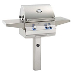 Fire Magic Aurora A430s Grill w/In-Ground Post (Backburner & Rotisserie Kit)