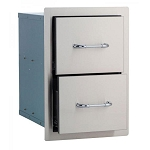 Bull Stainless Steel Double Drawer