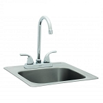 Bull Regular Stainless Steel Sink With Faucet