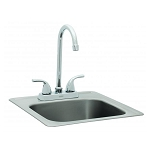Bull Large Stainless Steel Sink With Faucet