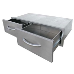 Cal Flame Horizontal 2-Drawer Storage Bin
