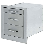 Cal Flame Wide 3-Drawer Storage Bin
