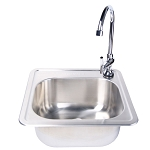 Fire Magic Stainless Steel Sink & Faucet