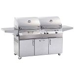 Fire Magic Aurora A830i Gas/Charcoal Combo Grill Cart