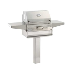 Fire Magic Charcoal Grill w/In-Ground Post Mount - 22-SC01C-G6