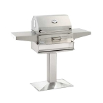 Fire Magic Charcoal Grill w/Patio Post Mount - 22-SC01C-P6