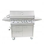 Lion 40-Inch 5-Burner Grill Cart (L90000)