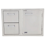 Lion 33-Inch Door & Drawer Combo