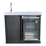 Mont Alpi Freestanding Black Stainless Steel Beverage Center - MASF-BSS