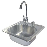 Cal Flame Stainless Steel Sink W/Faucet & Soap Dispenser