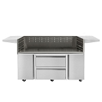Twin Eagles 54 Inch Two Storage Drawers/Two Door Grill Cart Base