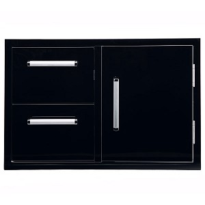 Bonfire Door & Double Drawer Combo - Black Series