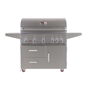 Bonfire 42-Inch 5-Burner Grill Cart