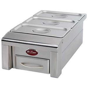 "Cal Flame 12"" Drop-In Food Warmer"