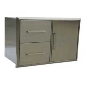 Jentek Double Drawer & Door Combo