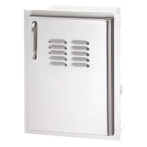 "Fire Magic Select 14"" Vertical Single Access Door w/Tank Tray & Louvers"