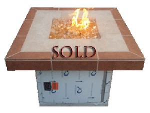 Two Tone Tile Fire Pit